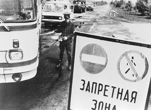 Strefa w obrębie 30 km od czarnobylskiej elektrowni im. Lenina została zamknięta /AFP