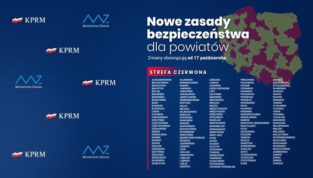 Strefy czerwone w Polsce /KPRM