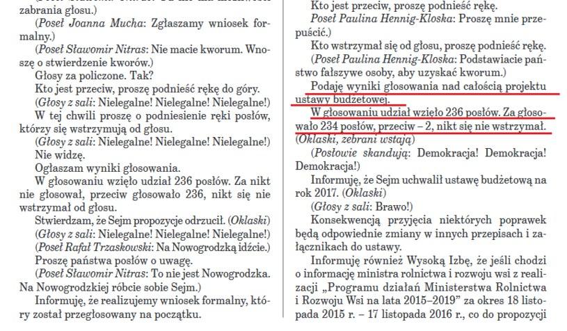 Strona 65. stenogramu z 33. posiedzenia Sejmu w Sali Kolumnowej /orka2.sejm.gov.pl /