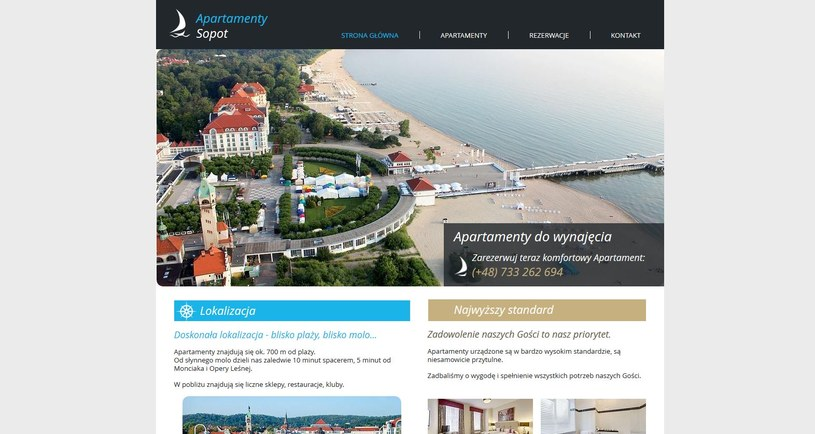 Strona http://www.apartamentysopot.biz wciąż działa /INTERIA.PL