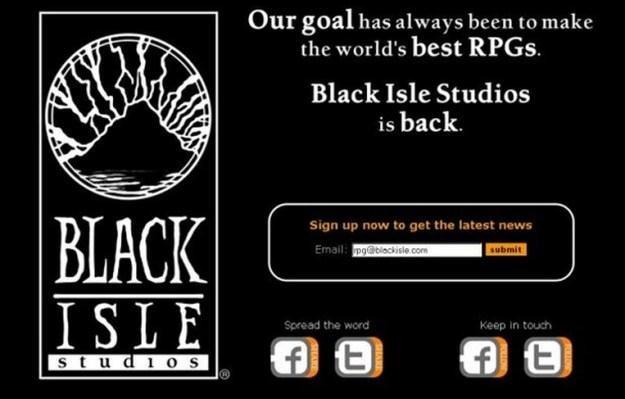 Strona internetowa studia Black Isle /Informacja prasowa