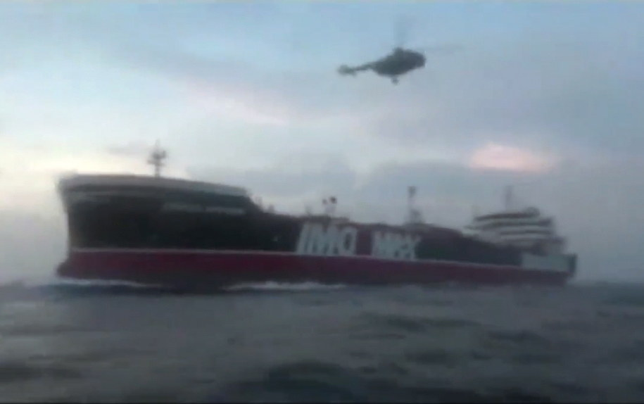 Strona irańska uważa, że w piątek doszło do kolizji między Steną Impero a łodzią rybacką /SEPAH NEWS HANDOUT /PAP/EPA