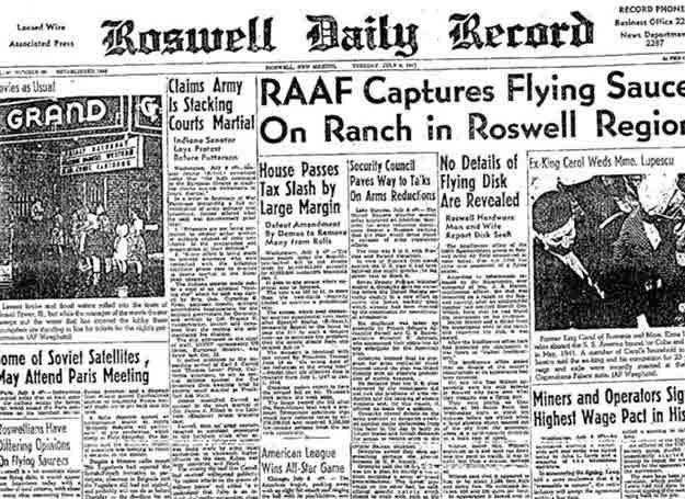 Strona lokalnej gazety z 4 lipca 1947 r. informująca o katastrofie UFO pod Roswell /MWMedia