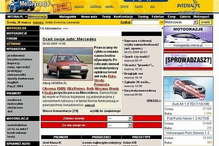 Strona Motoryzacji z III 2005 roku / Kliknij /INTERIA.PL