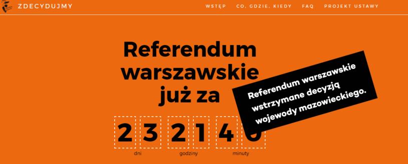 Strona poświęcona referendum /www.zdecydujmy.um.warszawa.pl/ /