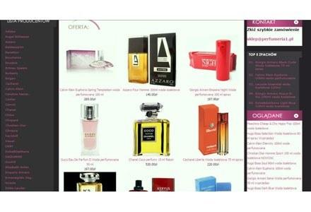 Strona sklepu perfumeria1.pl /RMF