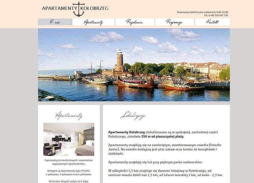 Strona www.apartamentykolobrzeg.org /INTERIA.PL