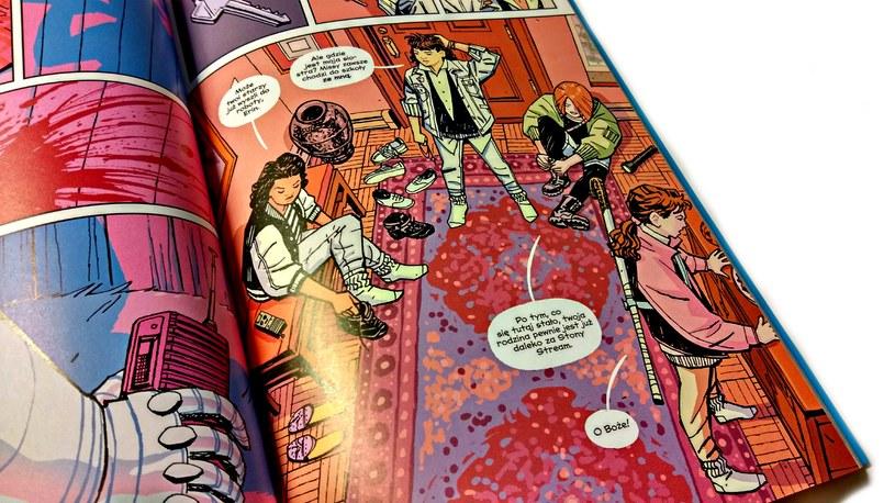 Strona z komiksu Paper Girls #1 /INTERIA.PL
