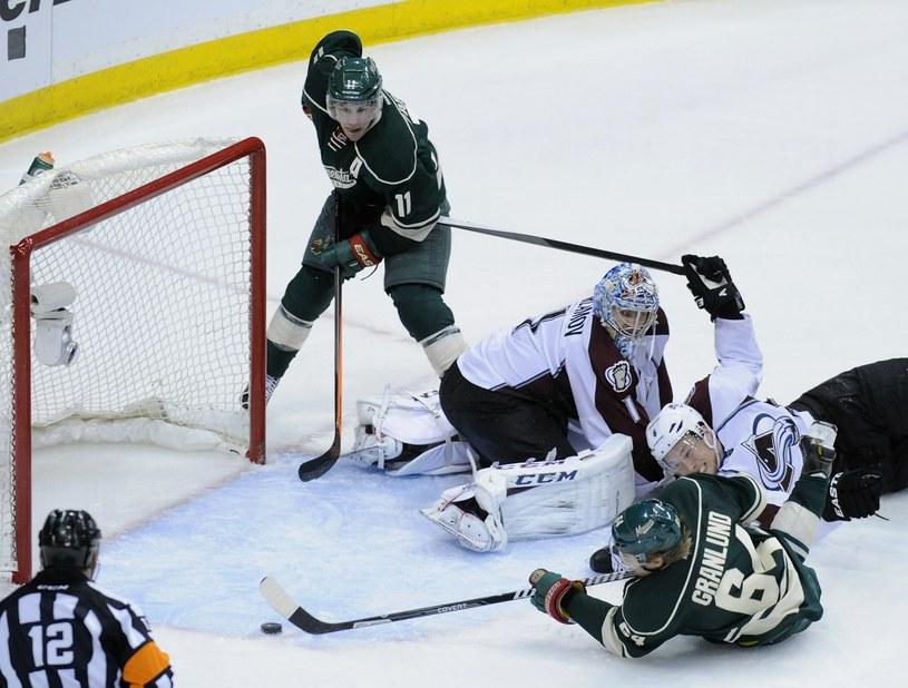 Strzela Mikael Granlund z Minnesota Wild /AFP