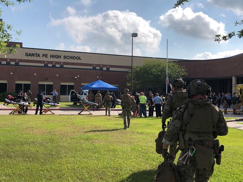Strzelanina w liceum w Teksasie /PAP/EPA