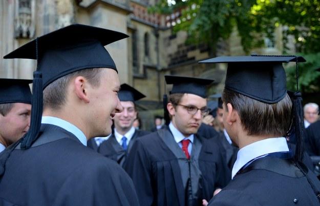 Studenci kończący HHL - Leipzig Graduate School of Management /Hendrik Schmidt /PAP/EPA