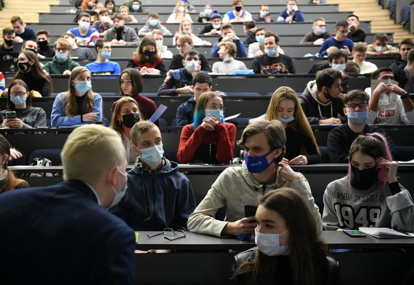 Studenci w sali wykładowej; zdj. ilustracyjne /Evgeny Biyatov/SPUTNIK Russia/East News /East News