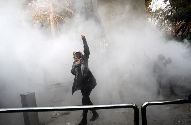 Studencki protest w Teheranie /EPA