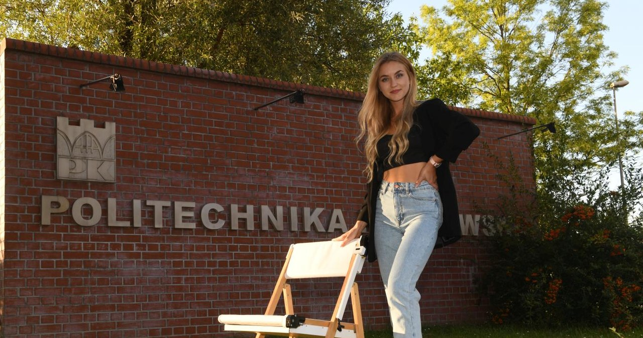 Studentka z Krakowa stworzyła krzesło, które samo się dezynfekuje