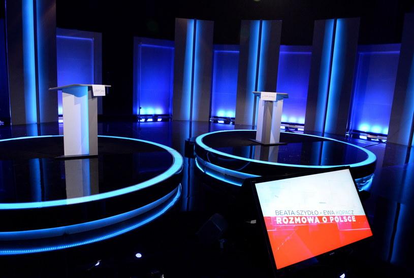 Studio przed debatą /Jacek Turczyk /PAP