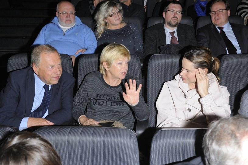 """Stuhrowie na premierze """"Pokłosia"""" /- /MWMedia"""