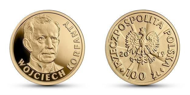 Stulecie odzyskania przez Polskę niepodległości - Wojciech Korfanty, 100 zł, rewers (L) i awers (P) /NBP