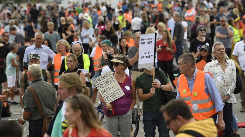 Stuttgart; fot. z protestu /AFP