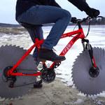 Stworzył rower do jazdy po lodzie