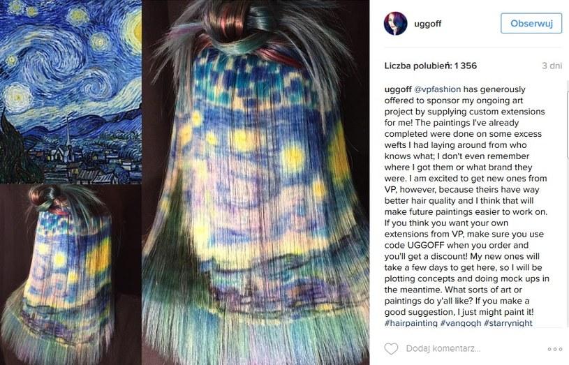 """Stylizacja inspirowana """"Nocą gwieździstą"""" Vincenta VanGohga /Instagram@uggof  /INTERIA.PL"""