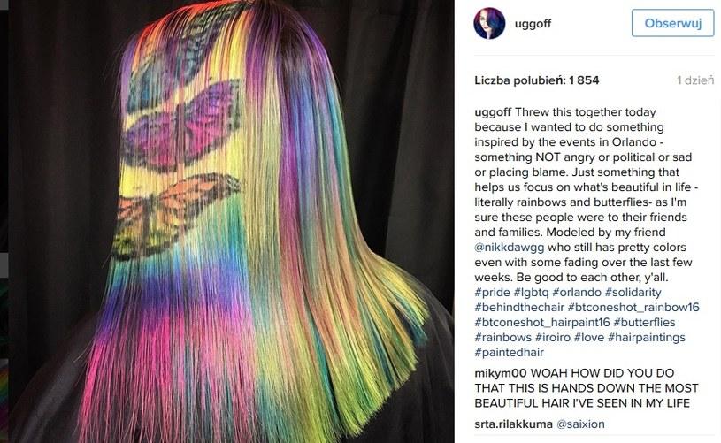 Stylizacja inspirowana tragicznymi wydarzeniami w Orlando /Instagram@uggof  /INTERIA.PL