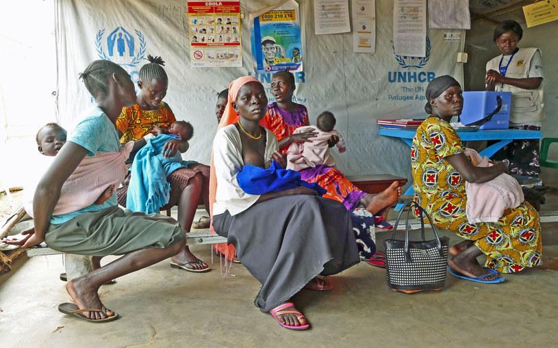 Sudanki z dziećmi w centrum szczepień w Koro /Marcin Ogdowski /INTERIA.PL