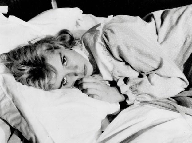 "Sue Lyon na planie filmu ""Lolita"" /Photoshot    /PAP"