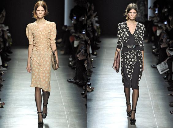 Sukienki z kolekcji wiosna-lato 2013 Bottega Veneta /East News/ Zeppelin