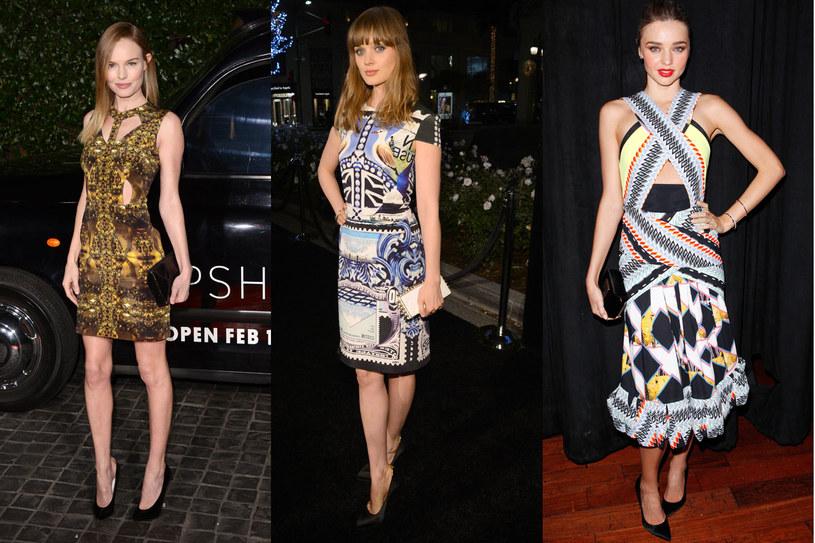 Sukienki z nadrukiem /Getty Images/Flash Press Media