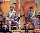 Sułtan Brunei z żoną /INTERIA.PL