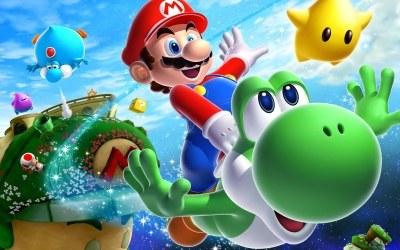 Super Mario Galaxy 2 - motyw graficzny /Informacja prasowa