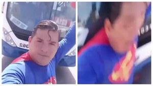 Superman próbował zatrzymać autobus. Został potrącony