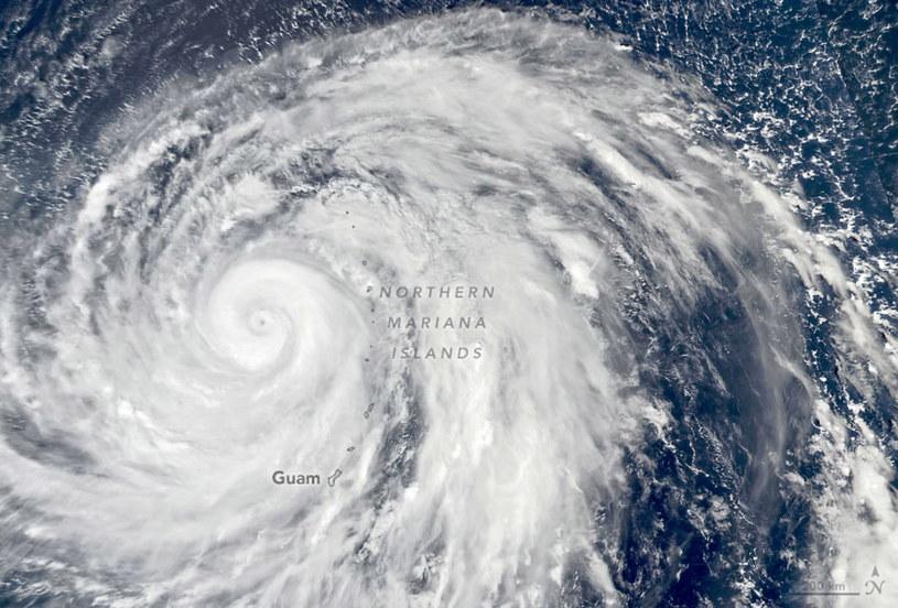Supertajfun Hagibis /NASA Earth Observatory /PAP/EPA