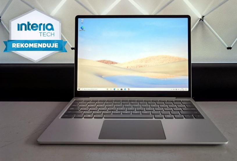 Surface Laptop Go  otrzymuje REKOMENDACJĘ serwisu Interia Technologie /INTERIA.PL