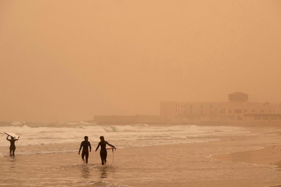 Surferzy na Fuertaveturze /CARLOS DE SAA /PAP/EPA
