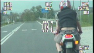 Surowa kara dla kierowcy motoroweru