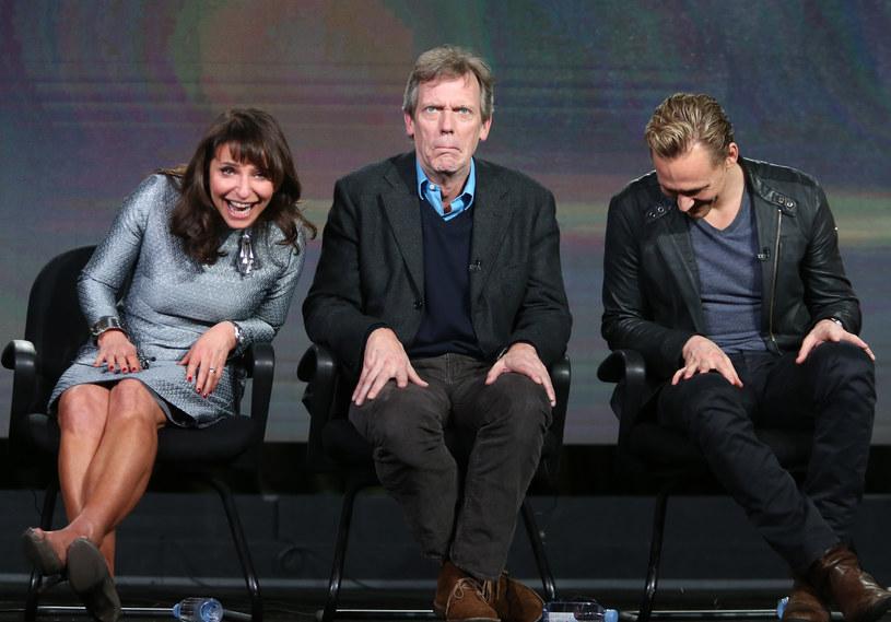 Susanne Bier, Hugh Laurie, Tom Hiddleston /Frederick M. Brown /Getty Images