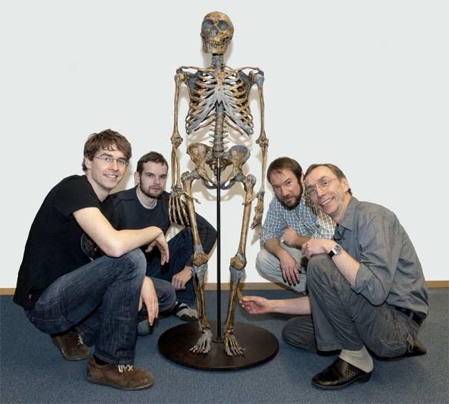 Svante Pääbo , Ed Green, Adrian Briggs i Johannes Krause zajmowali się badaniami DNA neandertalczyka  /Fot. Max-Planck-Institute EVA