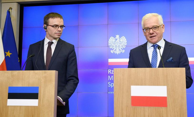 Sven Mikser i Jacek Czaputowicz /Radek Pietruszka /PAP