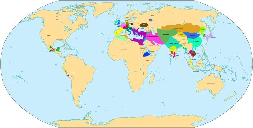 Świat około roku 500 naszej ery /Wikimedia Commons /domena publiczna