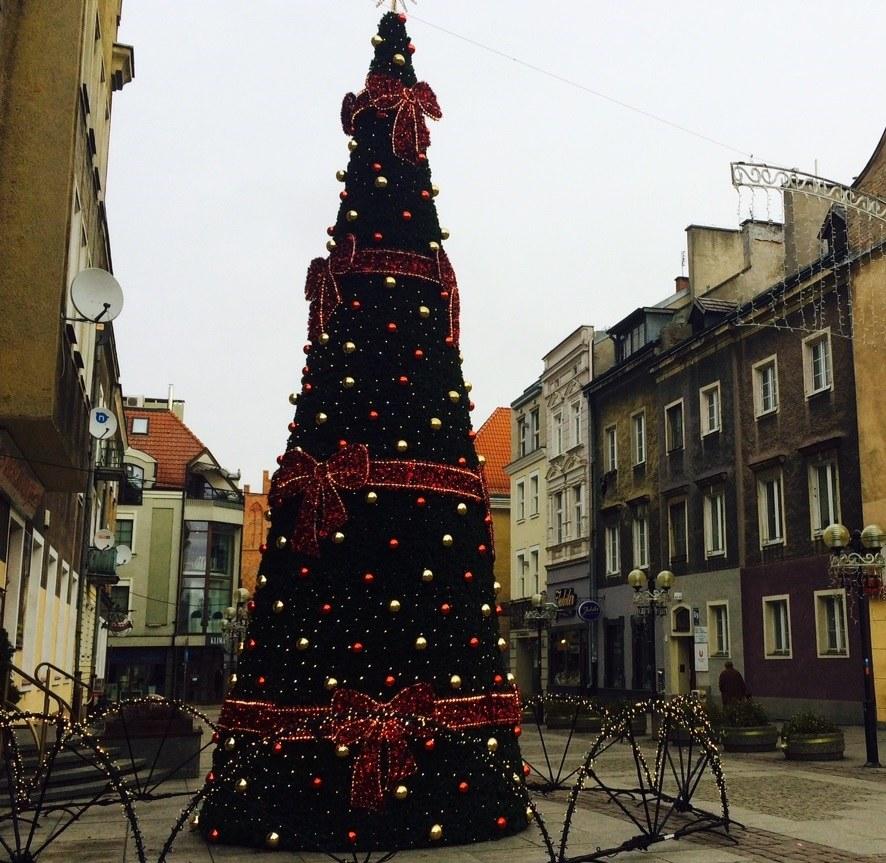 Świąteczna choinka w Olsztynie /Piotr Bułakowski /RMF FM