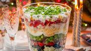 Świąteczna sałatka warstwowa
