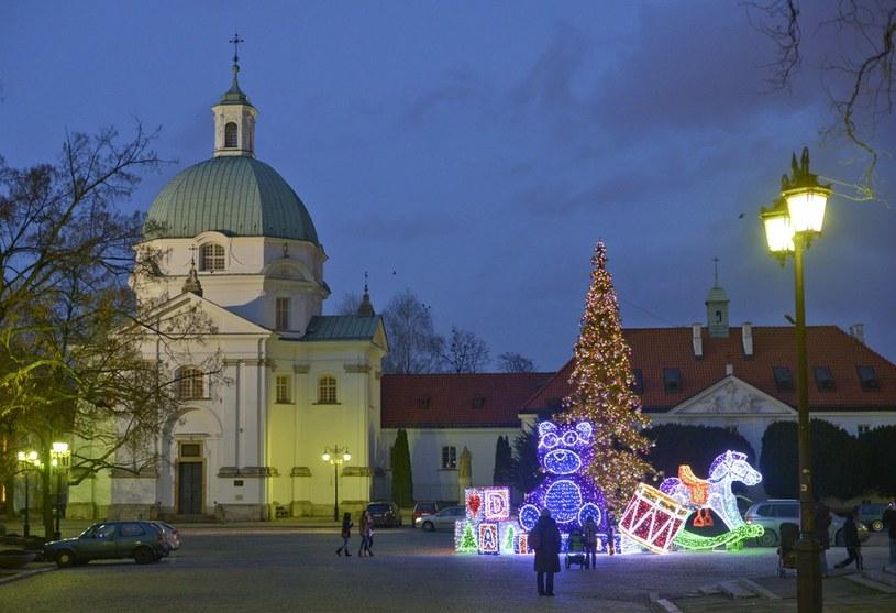Świąteczne dekoracje w Warszawie /Włodzimierz Wasyluk /Reporter