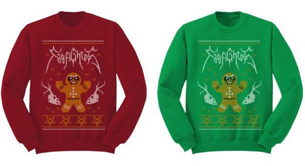 Świąteczny sweterek od Foo Fighters /