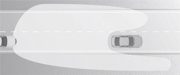Światła zapobiegną oślepianiu kierowcy z przodu. /Motor