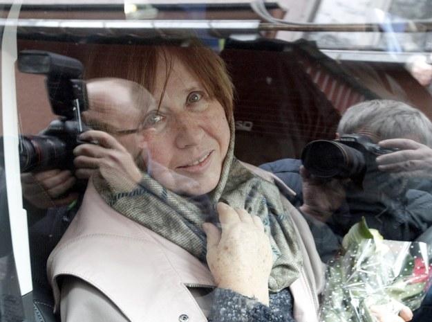 Swiatłana Aleksijewicz jest dostała literackiego nobla w 2015 roku /TATYANA ZENKOVICH  /PAP/EPA