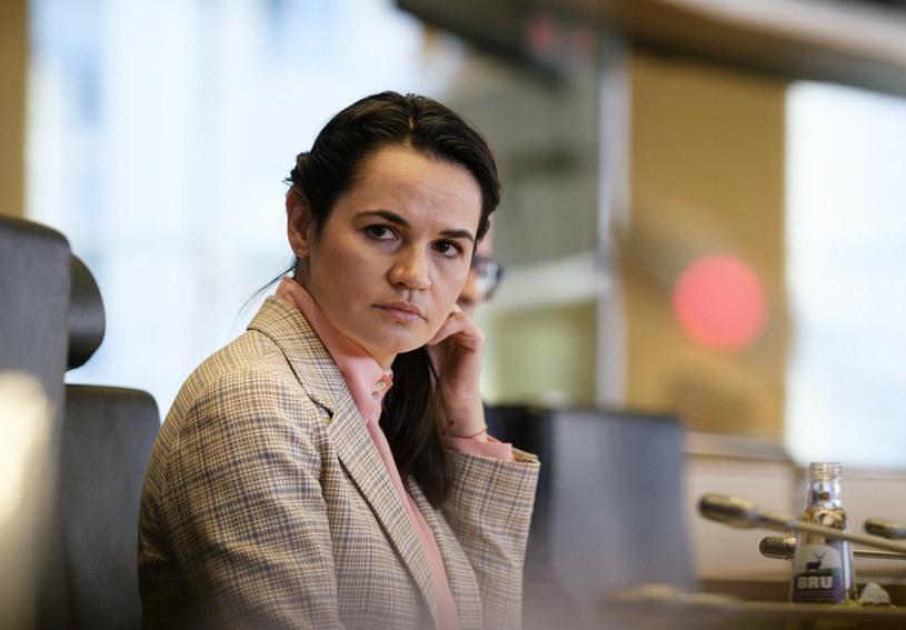 Swiatłana Cichanouska, b. kandydatka w wyborach prezydenckich na Białorusi /Thierry Monasse /Reporter