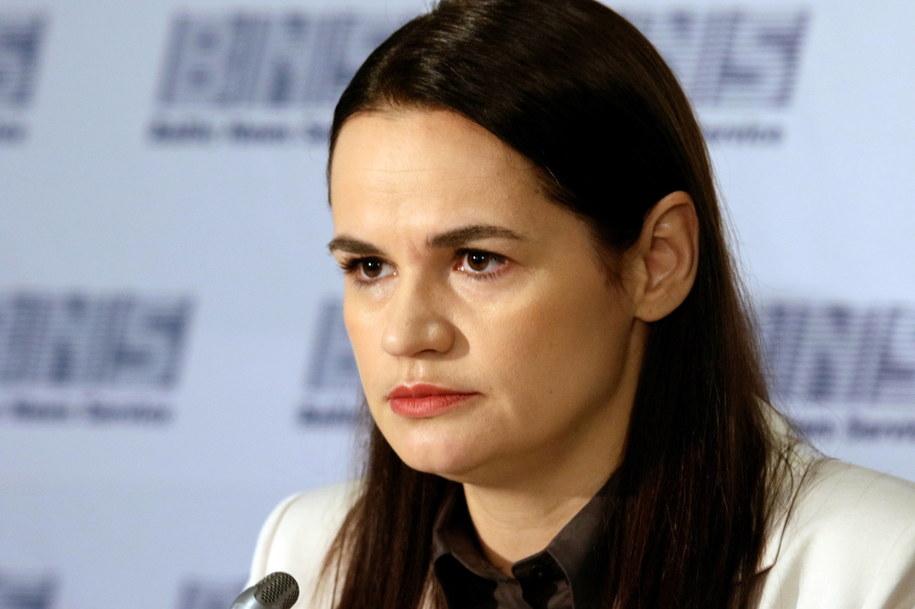 Swiatłana Cichanouska dla Onetu: Sąd wyda wyroki w sprawie ludobójstwa na Białorusi / STR   /PAP/EPA