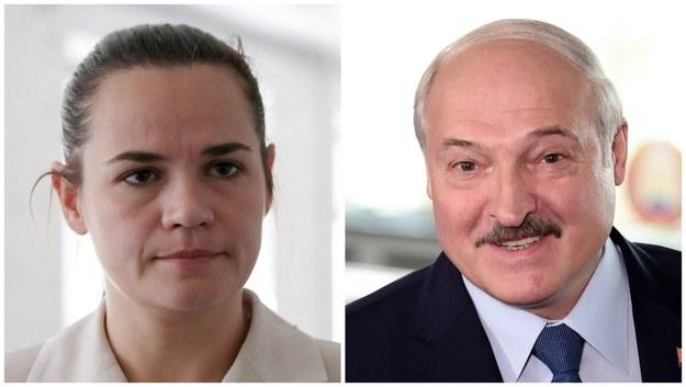 Swiatłana Cichanouska i Aleksandr Łukaszenka /TATYANA ZENKOVICH  /PAP/EPA