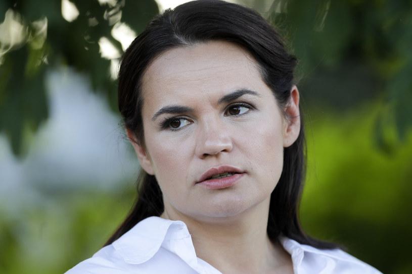 Swiatłana Cichanouska, kandydatka w wyborach prezydenckich na Białorusi 9 sierpnia /AP Photo/Sergei Grits /East News